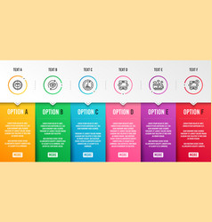 parcel tracking bus travel and 48 hours icons set vector image