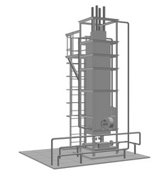 petroleum gas industrial equipment tracing vector image