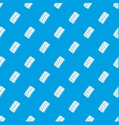 pork rib meat pattern seamless blue vector image