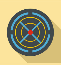 red gun aim icon flat style vector image