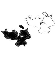 Reykjavik city iceland island map scribble vector
