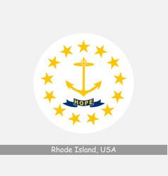 Rhode island round circle flag vector