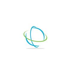 Round abstract sphere orbit logo vector