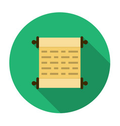 Scroll icon flat vector