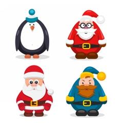 Set Christmas Characters vector image