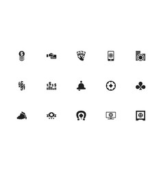 Set of 15 editable gambling icons includes vector