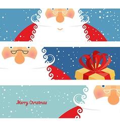Set of cards Santa Claus Jolly good Christmas vector