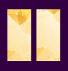 set of polygonal golden backgrounds luxury vector image