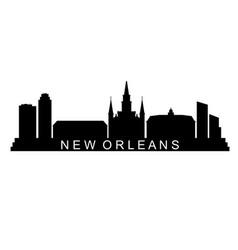 skyline new orleans vector image