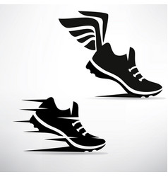 Sneaker stylized symbol set vector
