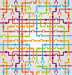 Social network internet chat community communicati vector image