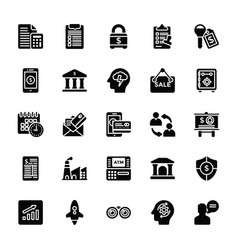 startup and new business glyph icons set vector image