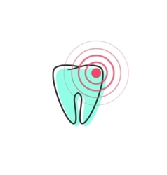 Tooth pain iconsymbol of teeth ache vector image