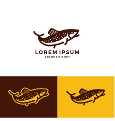 trout fish logo download vector image