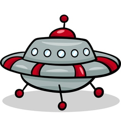 Ufo flying saucer cartoon vector