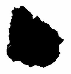 uruguay map dark silhouette vector image