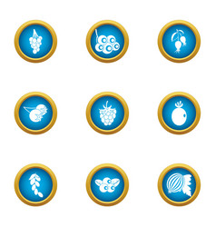 Viticulture icons set flat style vector
