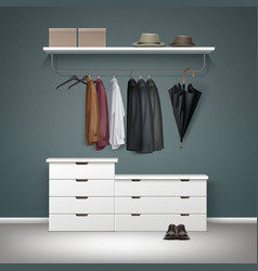 wardrobe room interior vector image