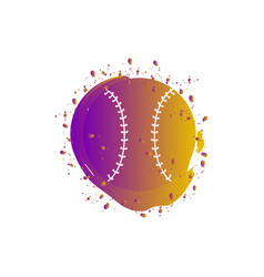 watercolor effect of a baseball ball vector image