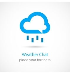 Weather Chat vector image