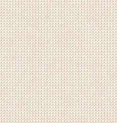 Wool knitted seamless pattern white background vector image