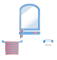 bathroom set vector image vector image