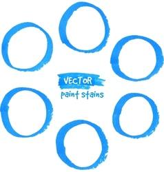 Blue marker paint circles set vector image