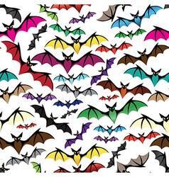 Halloween bat seamless pattern vector image vector image