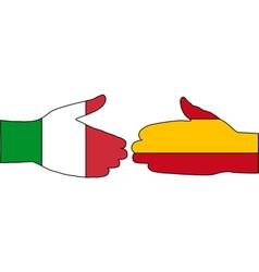 International Handshake vector image