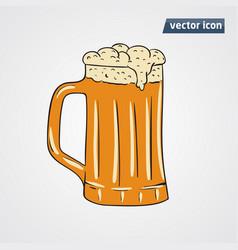 beer in cup vector image vector image