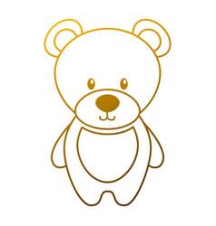 cute teddy bear toy adorable icon vector image