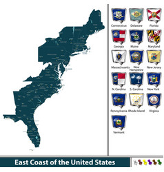 East coast of the united states vector