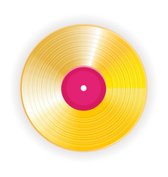 golden vinyl lp gold template design element vector image vector image