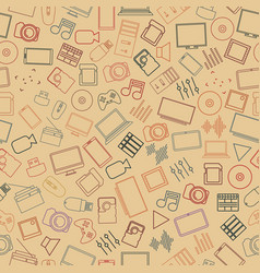 seamless background from a set of digital devices vector image