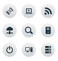 set of simple notebook icons vector image