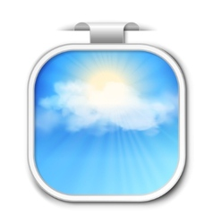 Abstract sky sticker vector image vector image