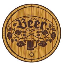 barrel of beer wooden barrel for beer vector image