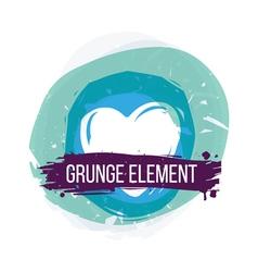 Heart grunge background vector