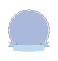label decoration ribbon ornament vector image vector image