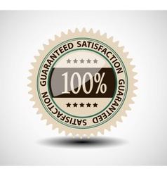 Satisfaction guaranteed label vector image