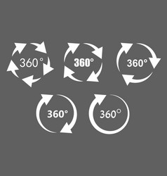 360 degree rotation icons vector image vector image