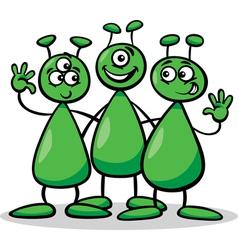 aliens or martians cartoon vector image vector image