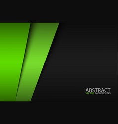 Black and green modern material design corporate vector