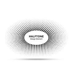 circle frame halftone dots logo design element vector image vector image