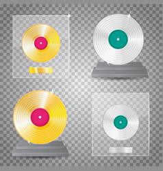 lp platinum lp gold set vector image