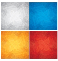 Set of Crumpled Colored Paper Textures vector image vector image