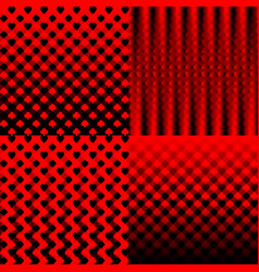 a set of red and black backgrounds with an vector image