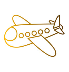 airplane fly travel toy icon vector image