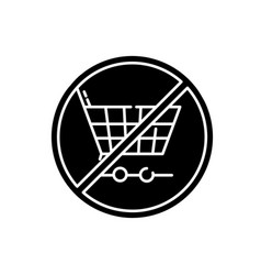 Anti consumerism black glyph icon vector