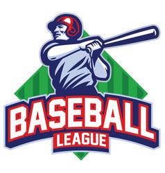 Baseball player hit ball vector
